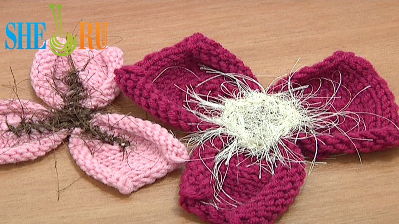 Free knitting flower patterns tutorial 21 easy to knit 3 petal free knitting flower patterns tutorial 21 easy to knit 3 petal flower we invite you bankloansurffo Images