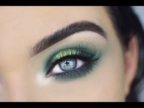 green st patrick's day eye makeup tutorial  morphe 35b