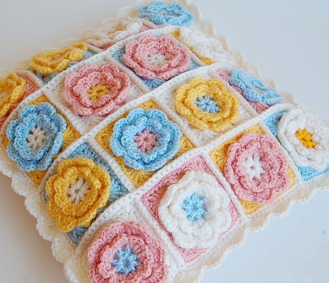 Zoet Bloemenkussen Home Dec Projects Pinterest Crochet
