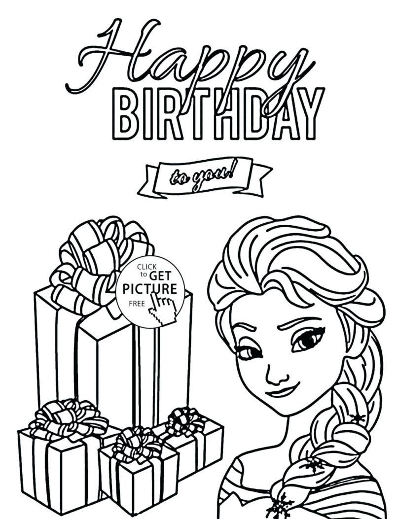Birthday Card Coloring Pages Page Coloring Free Coloring Pages For Kids To Print Adul Happy Birthday Coloring Pages Birthday Coloring Pages Elsa Coloring Pages