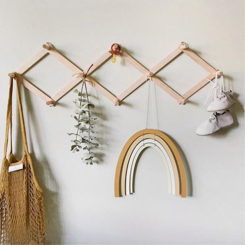 wooden according rack hanger wooden