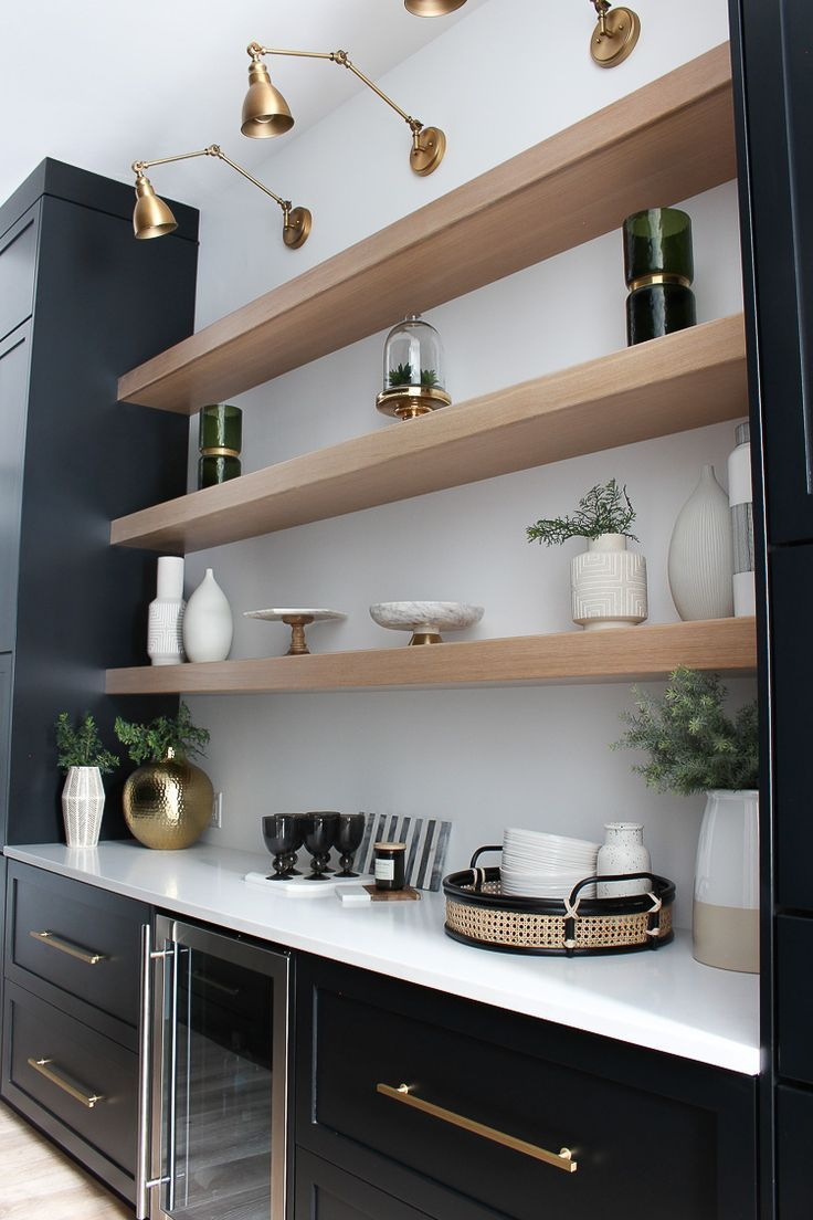 The Forest Modern: Our Chic Black Butler's Pantry #coffeebarideas