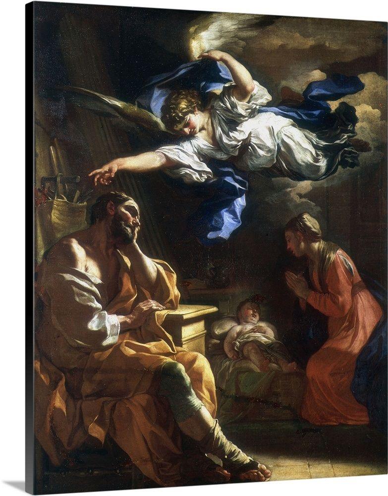 St Joseph S Dream Joseph Dreams St Joseph Canvas Prints