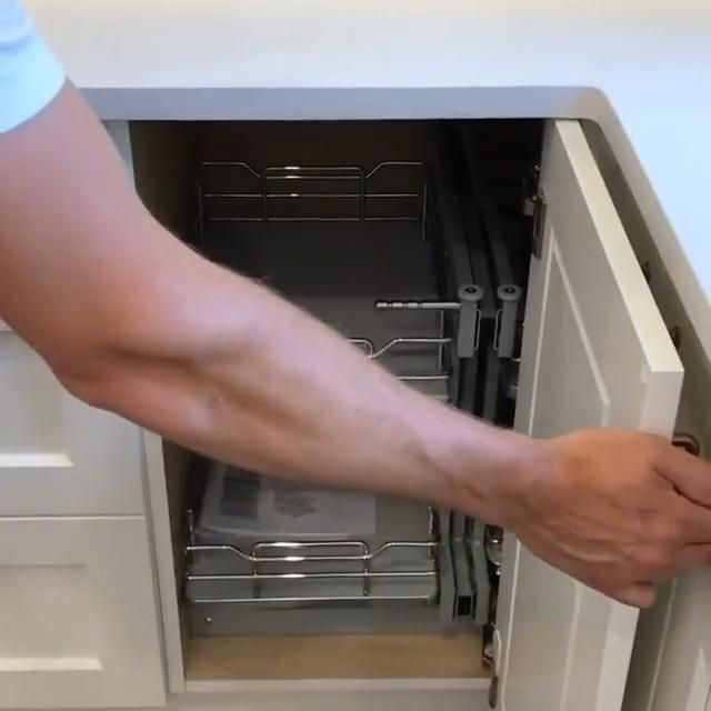 kitchen decor corner double function cabinet