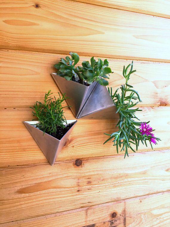 Tessellations // Set of 3 // Modern Wall Planter by MethodMfg
