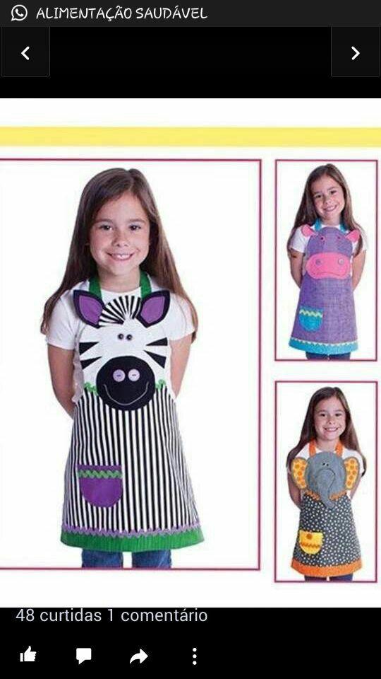 Vestido | Batas para educadora | Pinterest | Vestidos, Delantales y ...