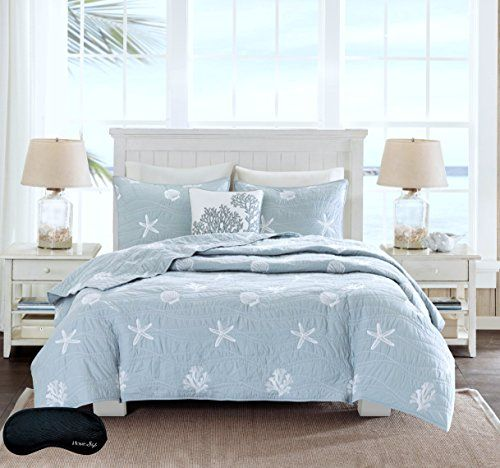 Beach House Starfish Pattern 100 Cotton Quilt Set With Images