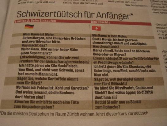 Schweizerdeutsch die schönste Sprache der Welt | German
