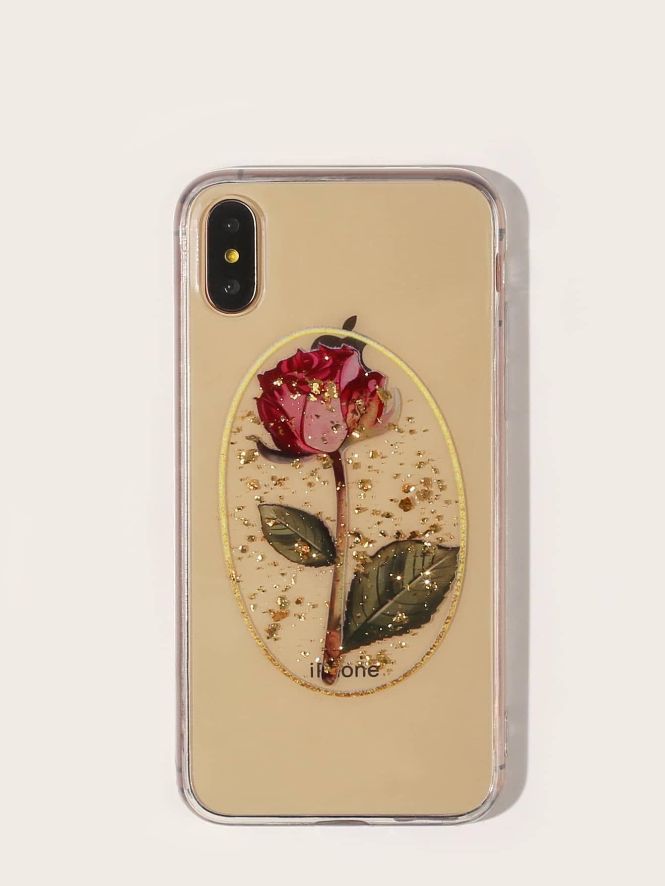 Back to school sale rose pattern iphone case romwe usa