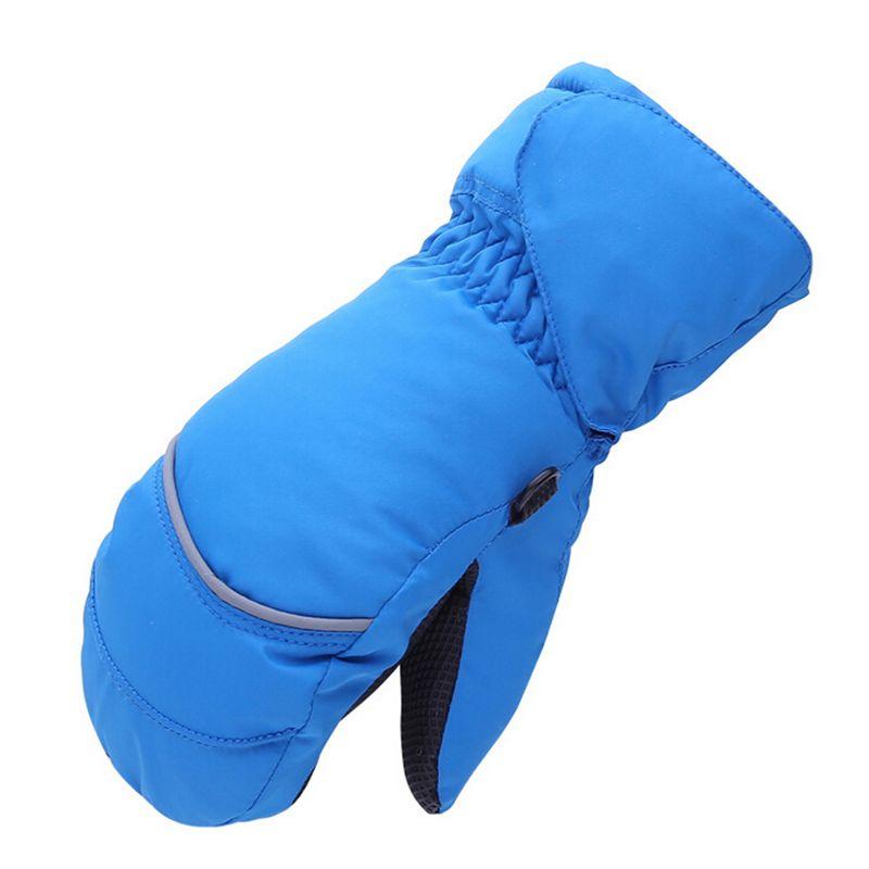 Kids Children Baby Winter Waterproof Mittens Boy Girl Thickening Warm Ski Gloves