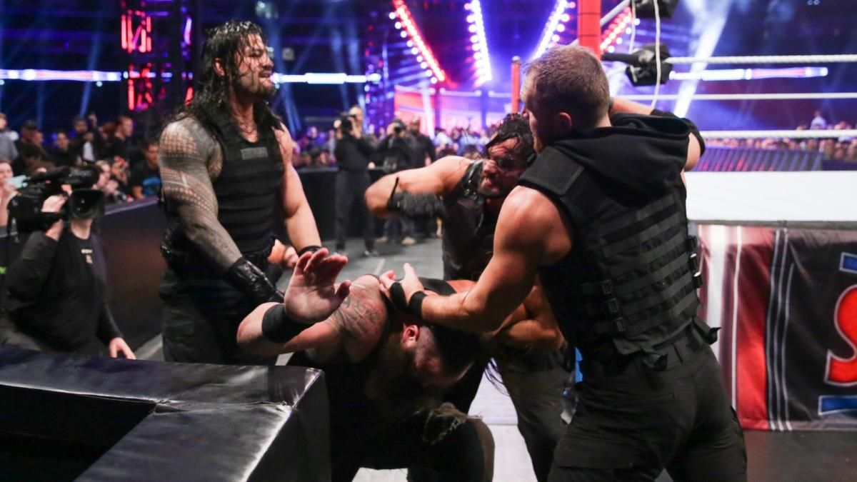 Photos The Hounds Of Justice Are Unleashed On Strowman Ziggler Mcintyre Braun Strowman Dolph Ziggler The Shield Wwe