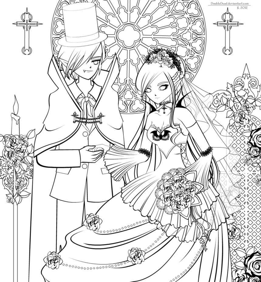 Vampire S Bride Lineart By Doubledead Minion Coloring Pages Scary Vampire Dragon Coloring Page