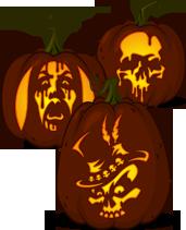 pumpkin template zombie  Pumpkin Carving Patterns from Zombie Pumpkins in 6 ...