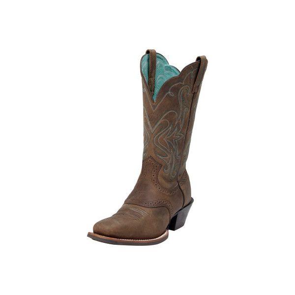 eb13efb530cd Ariat Legend Womens Cowboy Boots 15834 DIST BRN - PFI Western Store ( 180)  ❤ liked on Polyvore