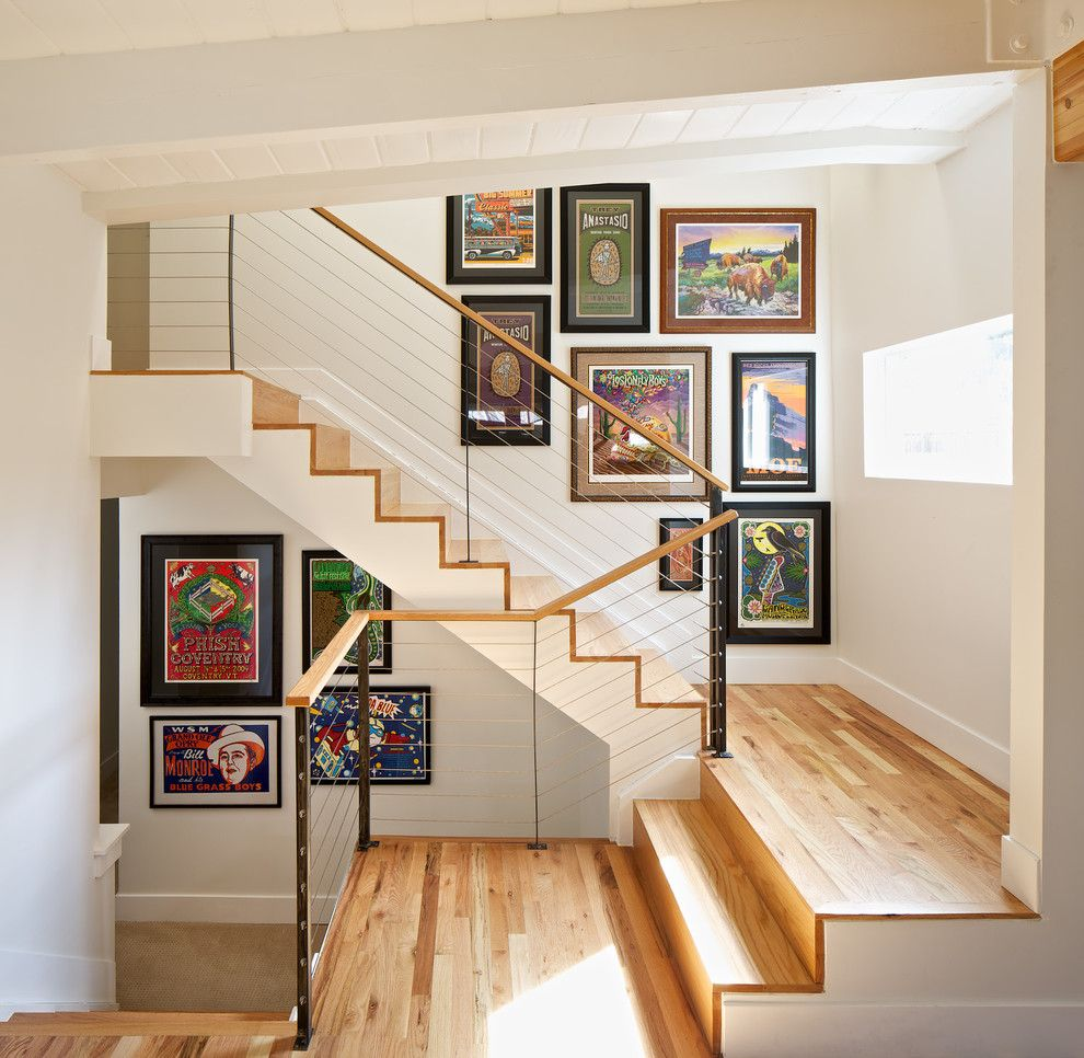 Best Gallery Staircase Staircase Contemporary With Mid Century 400 x 300