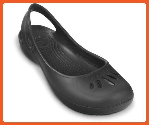 6da2fb1e28f5a Crocs Womens Thea Flat,Black,US 10 M - Mules and clogs for women ...