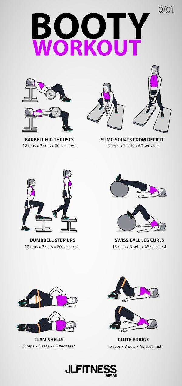 Booty Workout 001- 6 exercises.