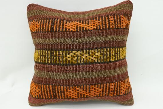 Kelim Kissen,Traditional Pillow,12x12 inch,Kilim Pillow,Turkey Pillow,Pillow Cover,Throw Pillow,Embr