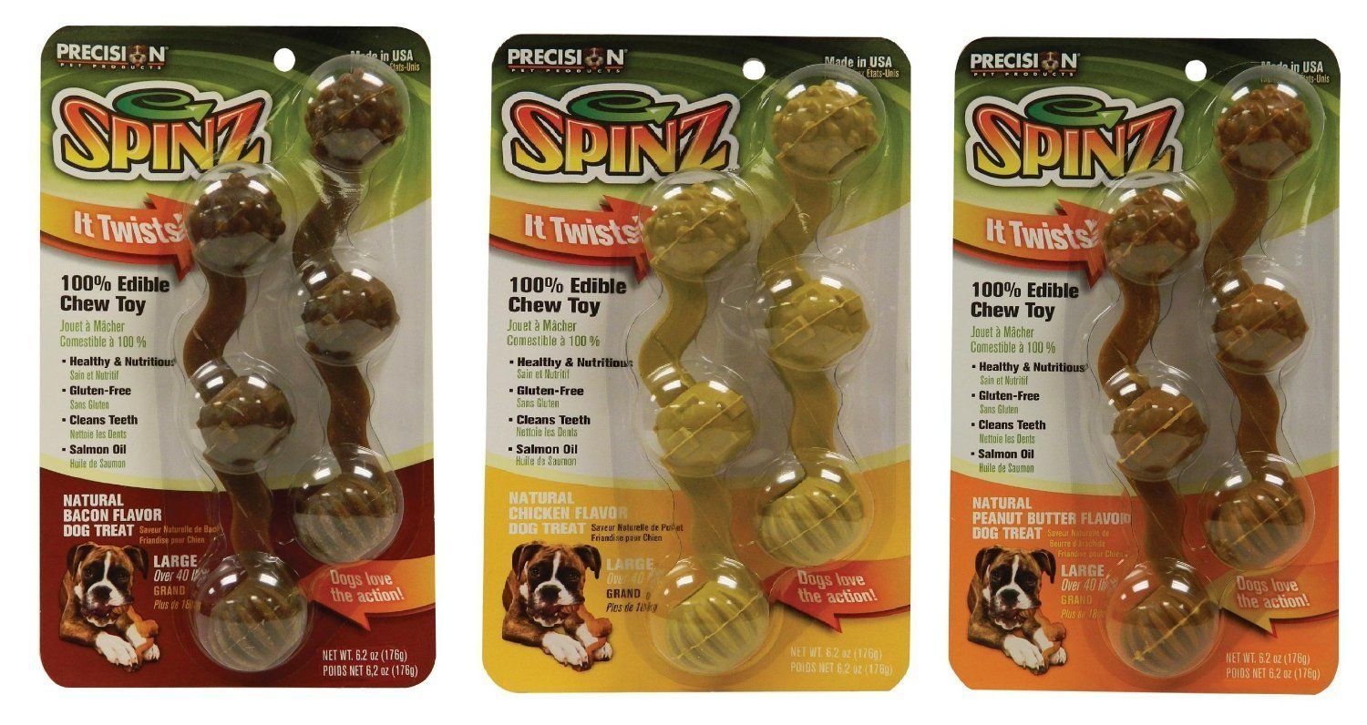 Precision Dog 100 Spinz Edible Chew Toy Large 36pcs Best Deal