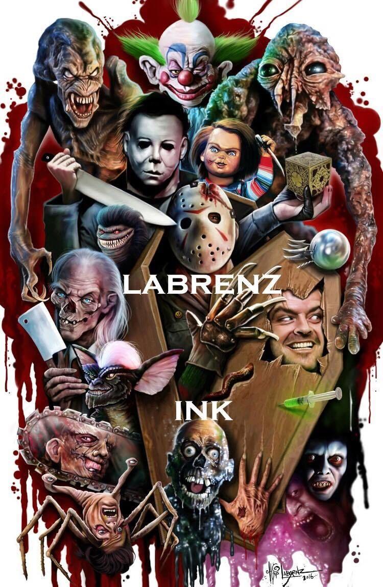 Chris labrenz artist illustrator and tattooist horror