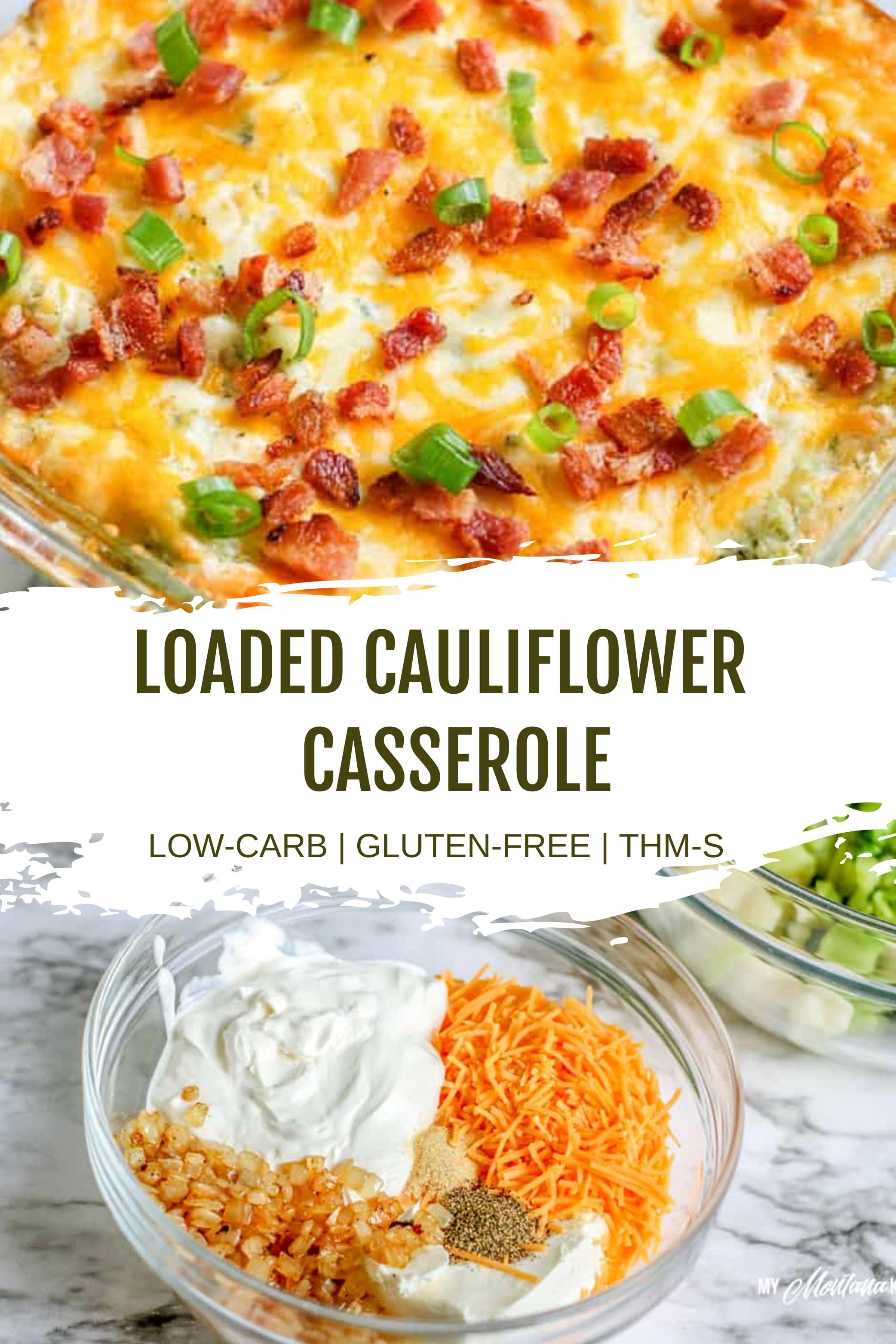 Loaded Cauliflower Casserole  #loadedcauliflowerbake