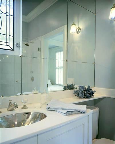 Sleek Bathroom Design Sallyl Tish Key Interior Design  Sleek Bathroom With White