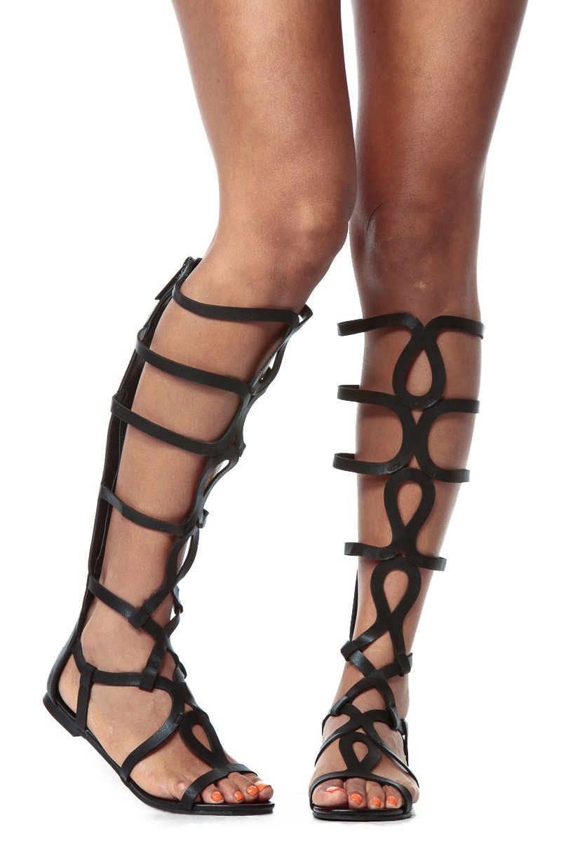 c9f44e09688e4 Black Egyptian Gladiator Sandals   Cicihot