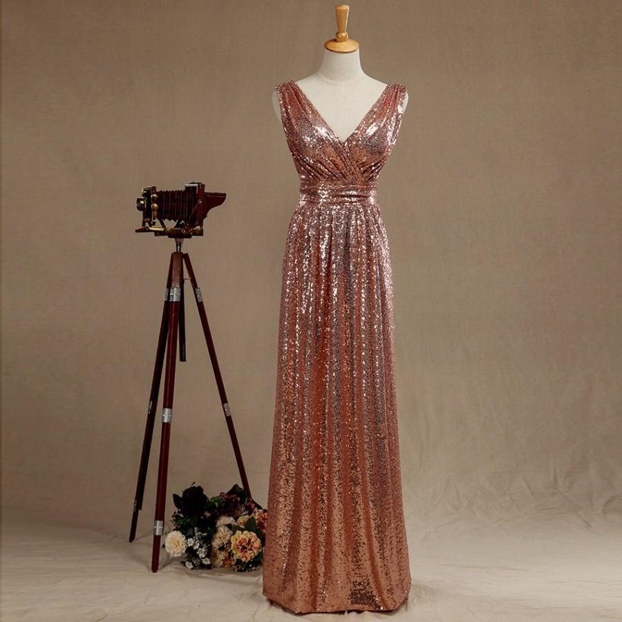 Gold sparkle wedding dress  Rose Gold Wedding Dress  Wedding   Rose Gold Bridesmaid dress