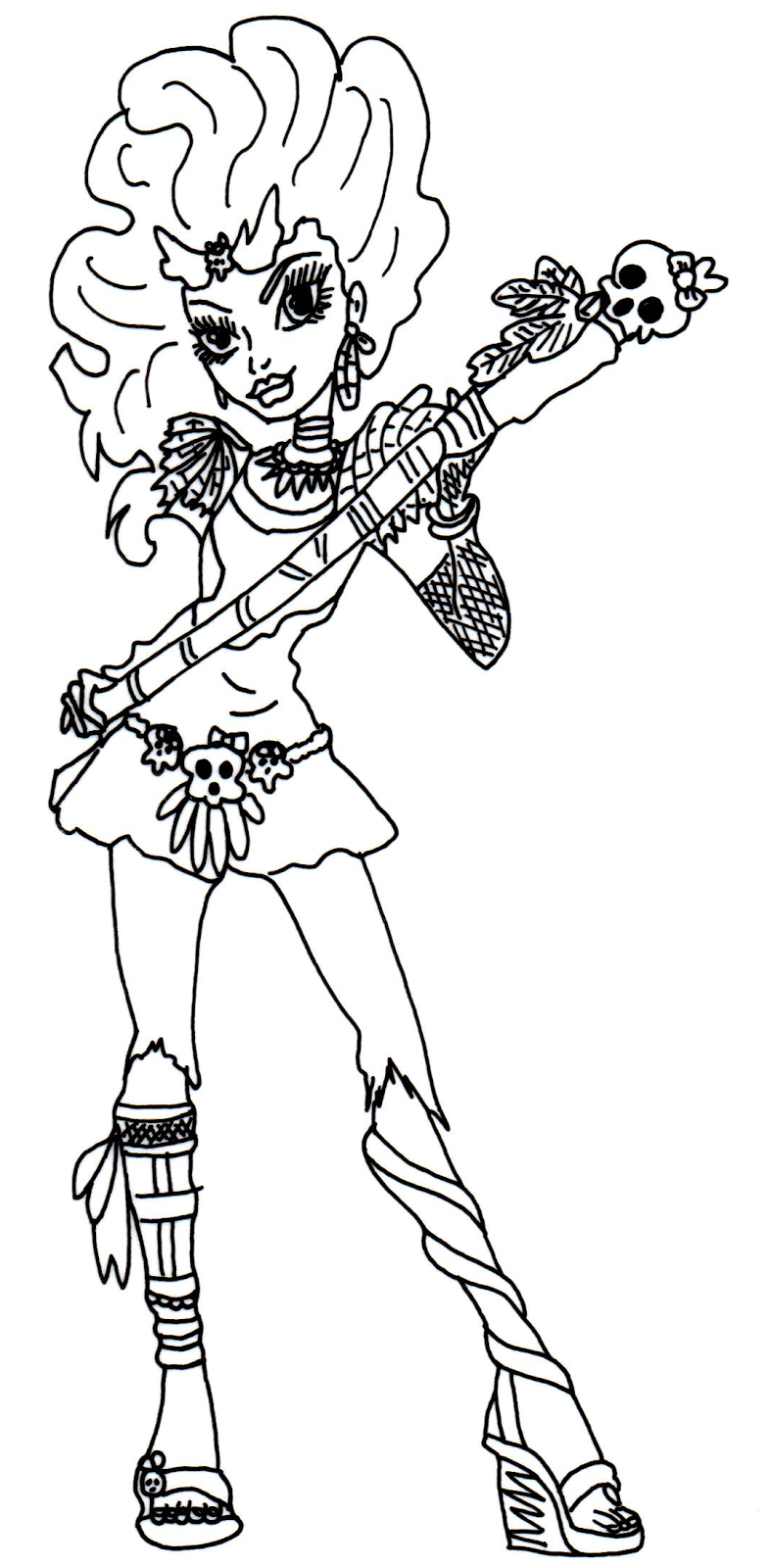monster high coloring pages jane boolittle google search
