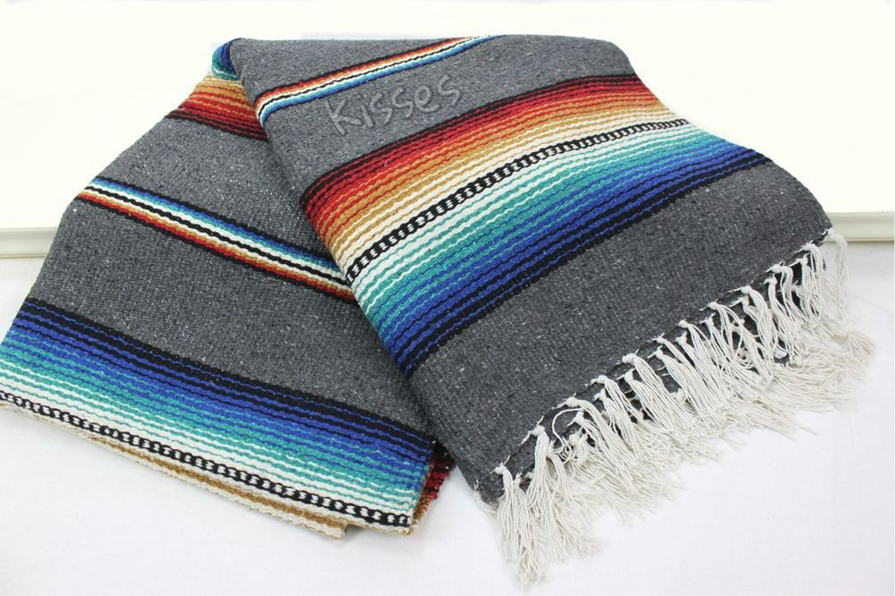Most popular blanket - get yours! Mexican Serape Blanket Beach Yoga Sarape Throw Zarape New Rug Southwestern #handmade #tjayz.com