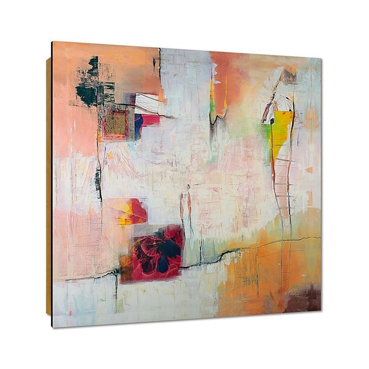 Tableau Art Abstrait 2 Taille 100 x 100 cm;30 x 30 cm