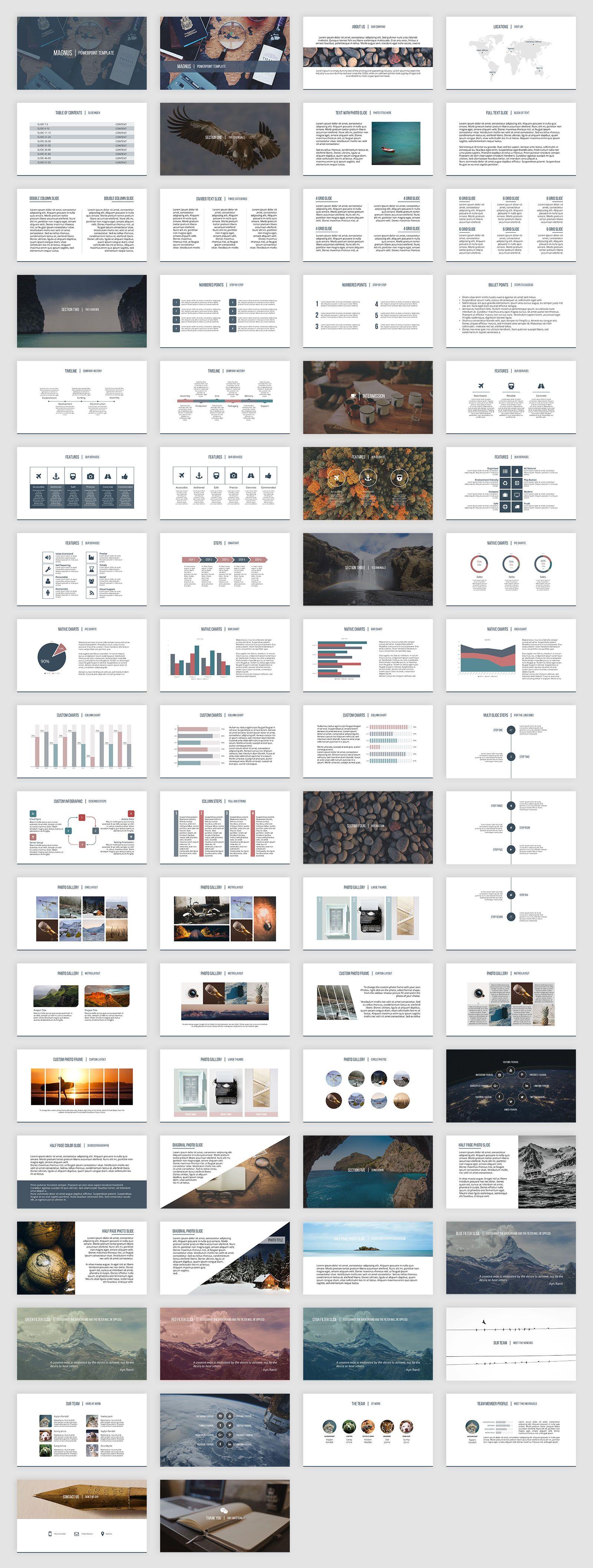 Magnus PowerPoint Template by SlideStation on @creativemarket ...