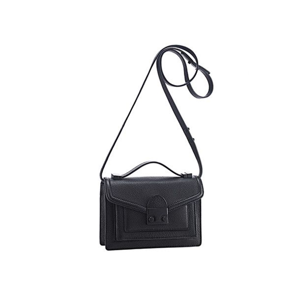 2fa7e43d6 Loeffler Randall Mini Rider Bag Black tumbled leather ($395) ❤ liked on  Polyvore featuring bags, handbags, shoulder bags, leather purse, black  crossbody, ...