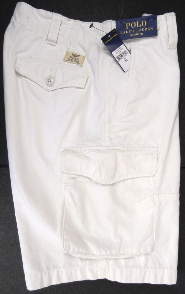 a63bf4fd3 NWT Polo Ralph Lauren Mens 32 Commander Drill Cargo Shorts White Classic  Fit  PoloRalphLauren  Cargo