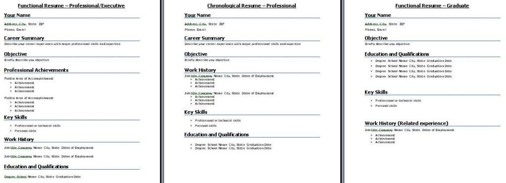 Functional Resume Template When To Select Functional Resume In 2020 Chronological Resume Template Download Resume Chronological Resume