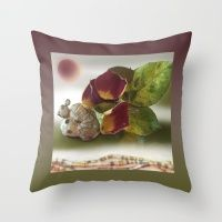 Stone Spirit / Turkey Throw Pillow by Iris Sandkuhler and Sandkuhler Studio