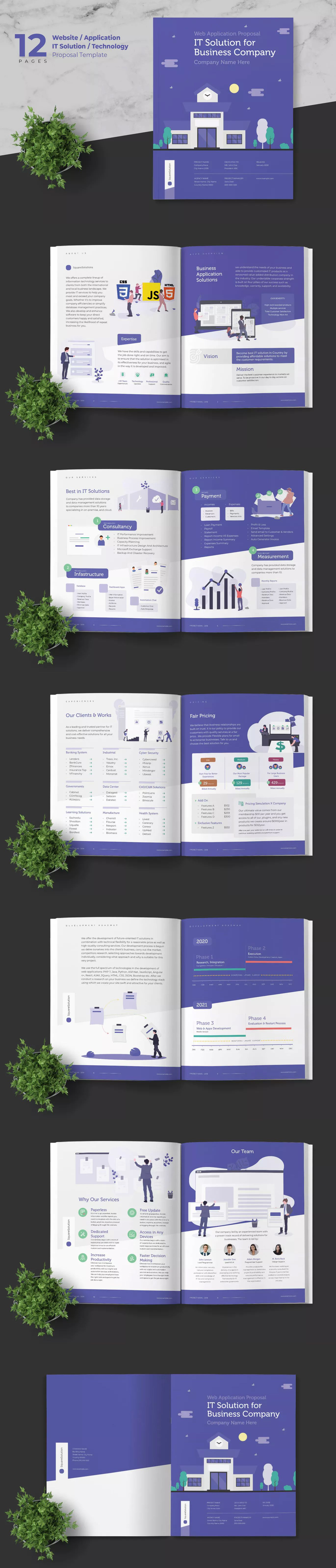 Website Application It Solution Proposal Template Indesign Indd