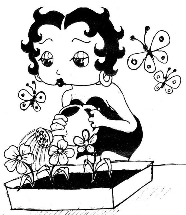 Baby Betty Boop Coloring Pages Activity Betty Boop