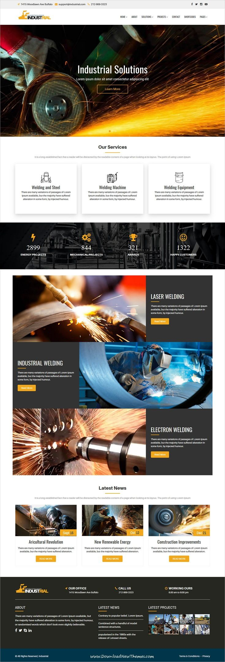 Industric Responsive Industrial Factory Solutions Html Template Web Layout Design Website Design Layout Webpage Design