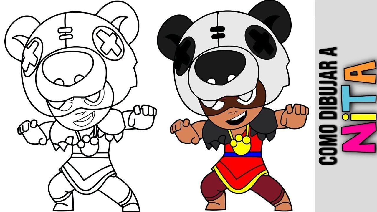 Como Dibujar A Nita De Brawl Stars Mejoeres Brawlers Tutorial Animac Personajes De Cartoon Network Tutoriales De Dibujo Como Dibujar