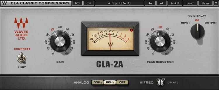 Waves Cla 2a Modeled Compressor Plug In Waves Audio Waves Waves Vst