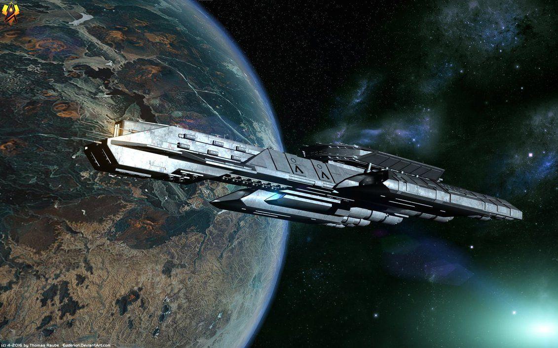 Tau'ri Battlecruiser by Euderion.deviantart.com on @DeviantArt
