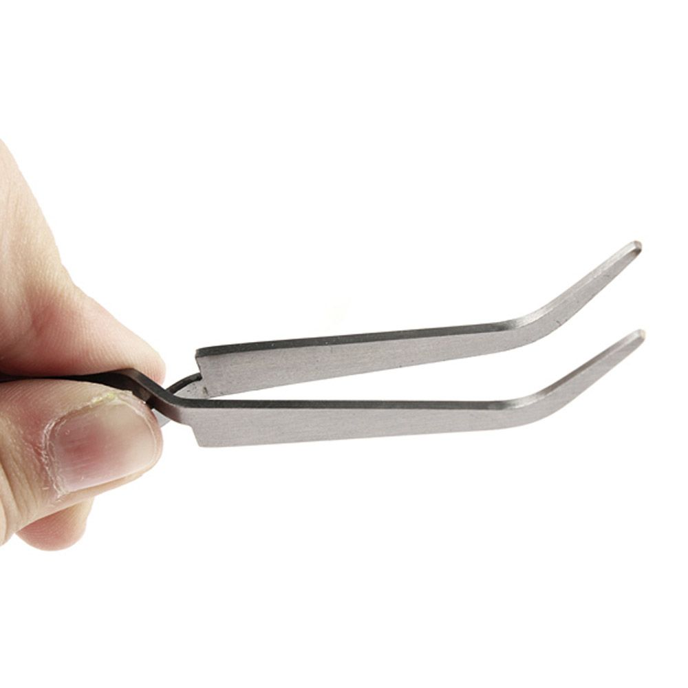 Stainless Steel Curved Nail Art Picking Clip Nipper Tweezers Nippers ...