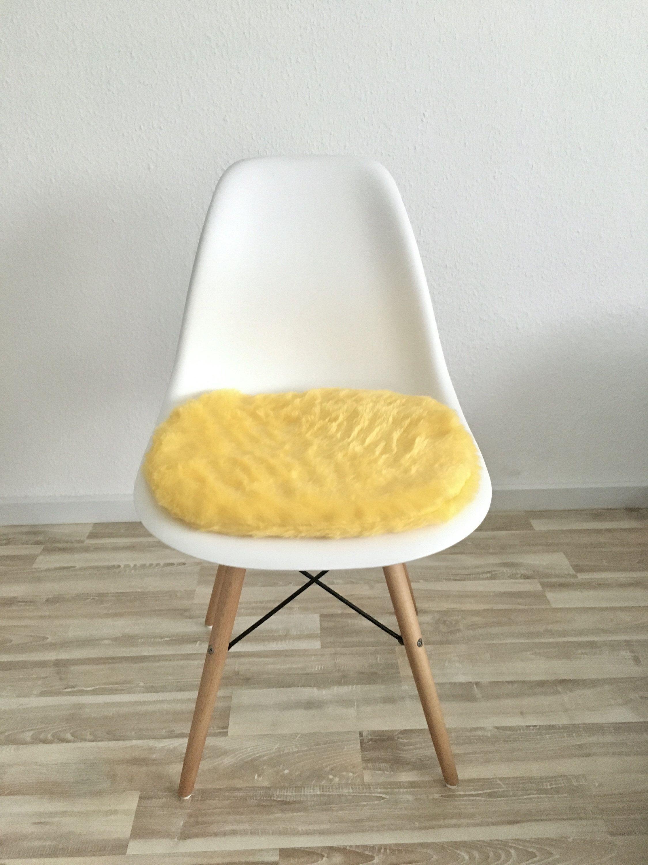 Sitzpolster In Gelb Für Eames Chair Langhaarplüsch Etsy Eames Eames Stuhl Sitzen