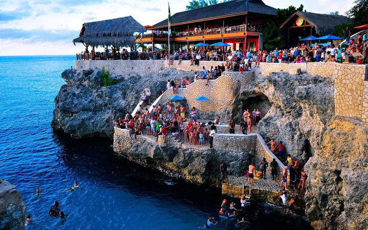 Cliff Diving Café at Rick's Cafe' in Negril, Jamaica.  I have great memories of this part of jamaica while it was a secret
