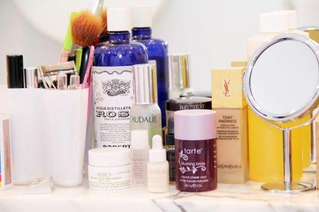 Marina Muñoz, Stylist, ITG: -Caudalie Beauty Elixir -Tarte Cheek Stain in Blushing Bride -Roberts' rosewater toner