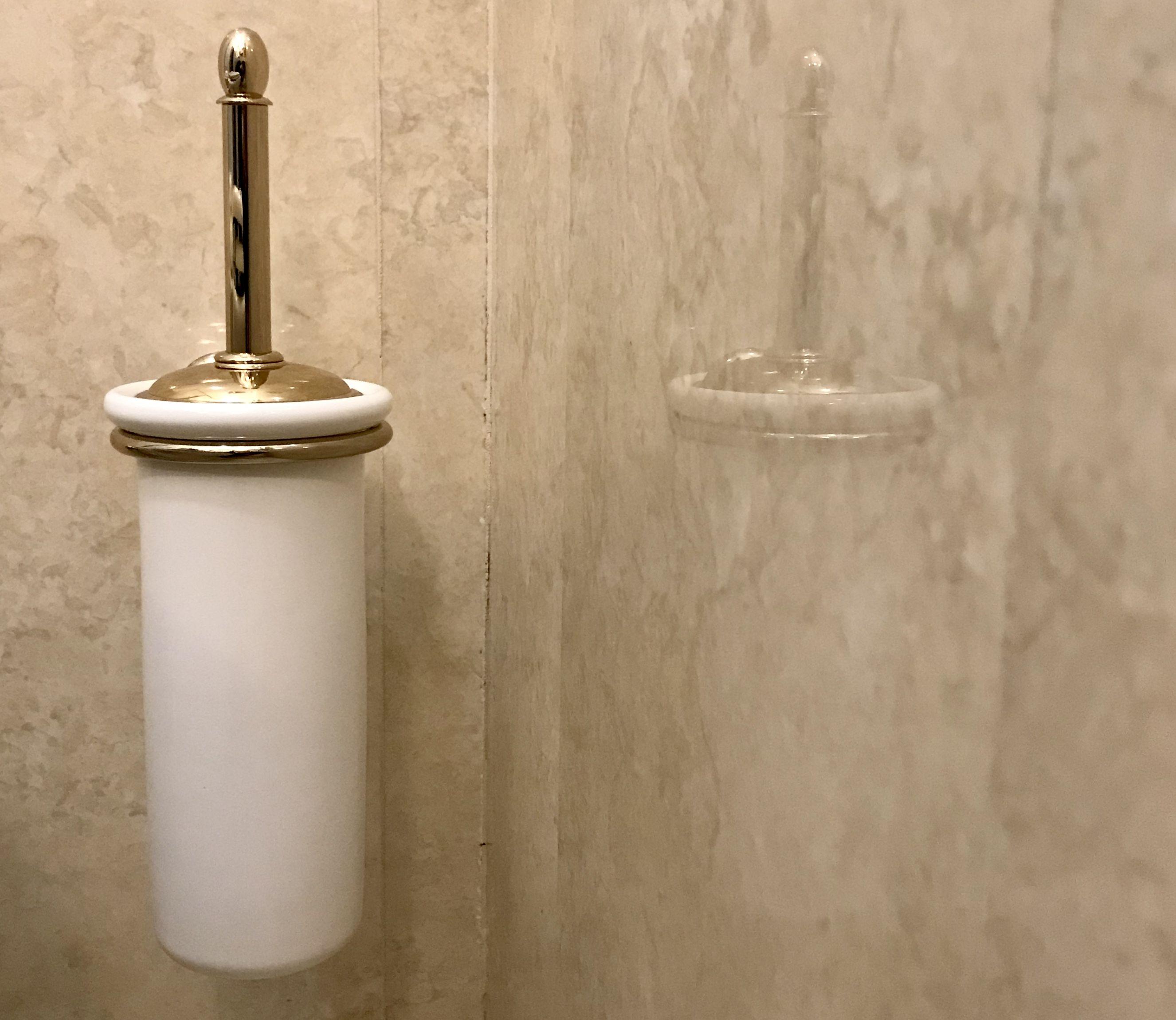 Tubo Per Scopino Bagno Di Ricambio In Ceramica Bianca Ceramica