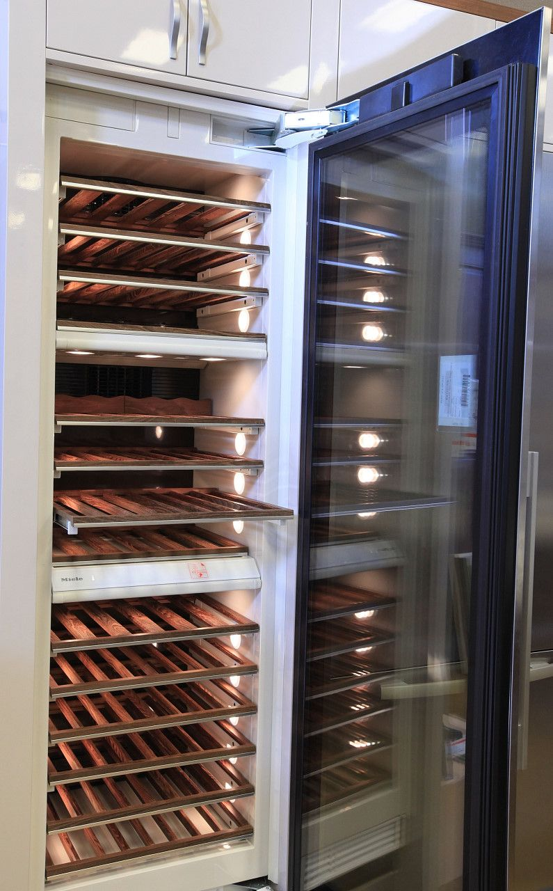 Miele three zone wine cooler holds up to 102 bottles