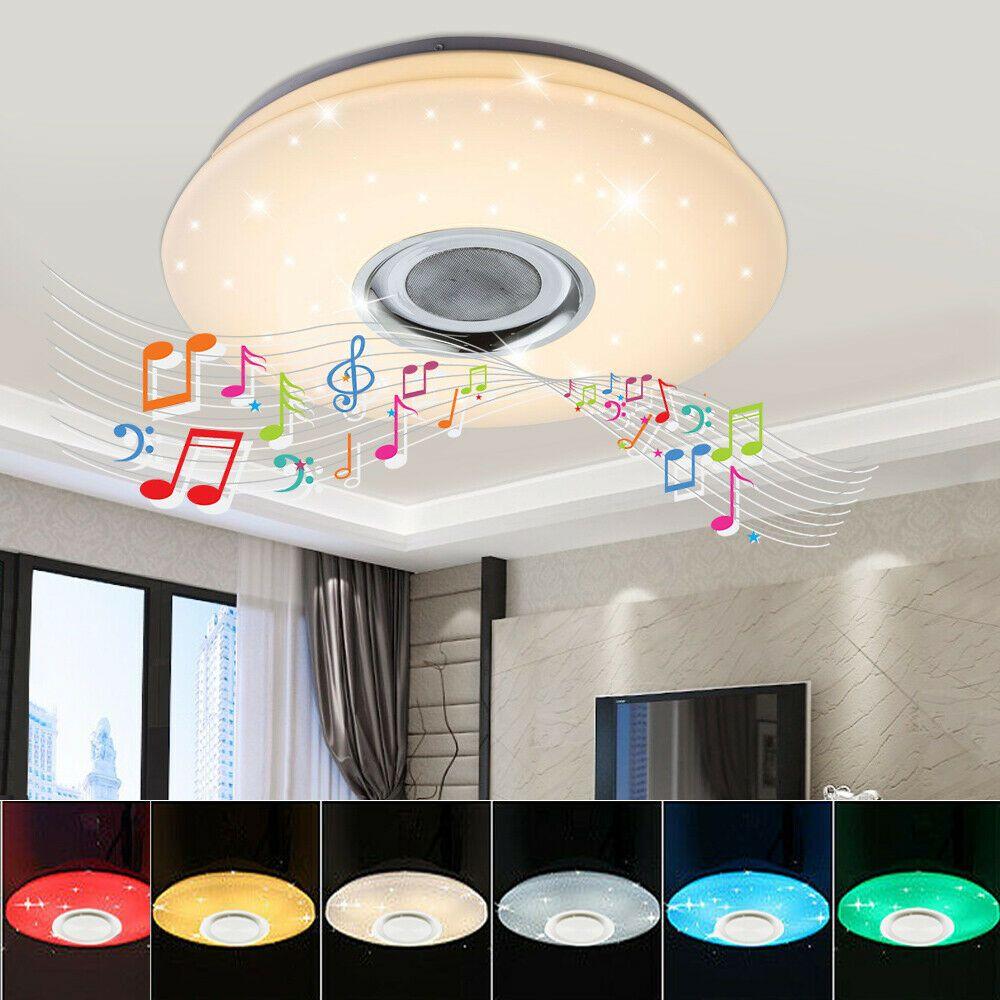 60w Dimmbar Rgb Led Deckenleuchte Lampe Bluetooth Lautsprecher Bluetooth Fernbed In 2020 Led Rgb Led Led Deckenleuchte
