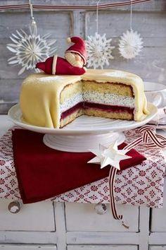 Mohn Marzipan Torte Mit Nikolaus Rezept Kuchen Pinterest